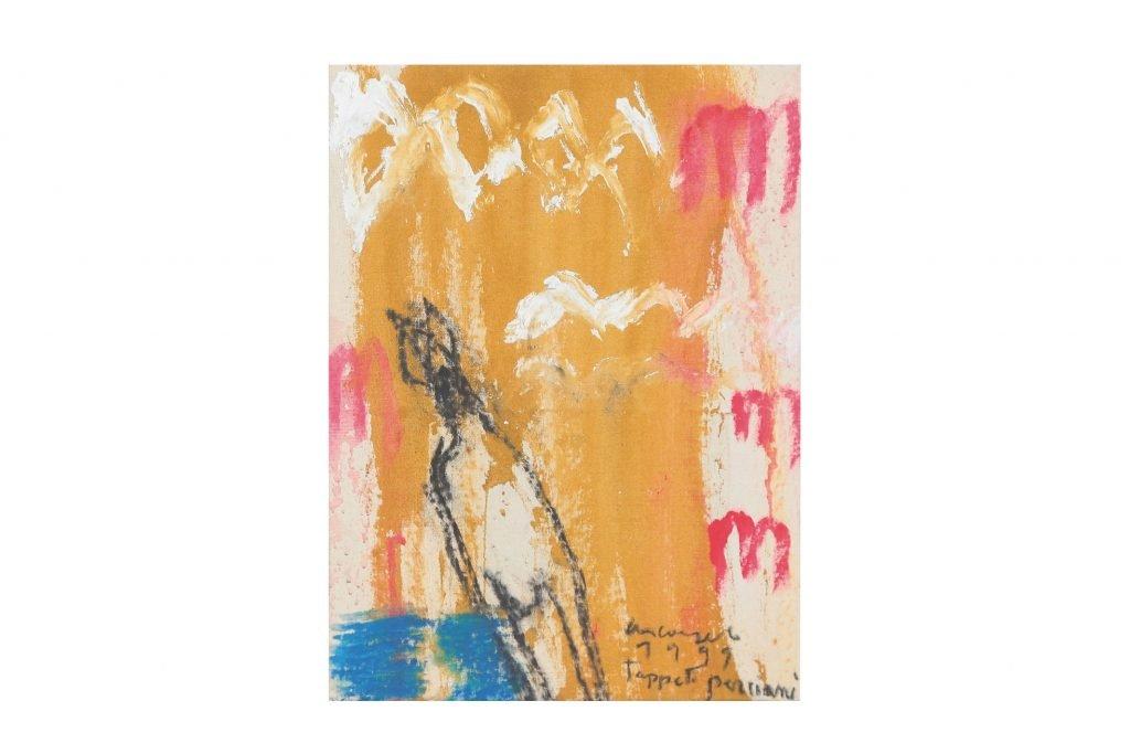 "ARCANGELO ""Tappeti persiani"" -1999- tecnica mista su tela 36x25 cm"