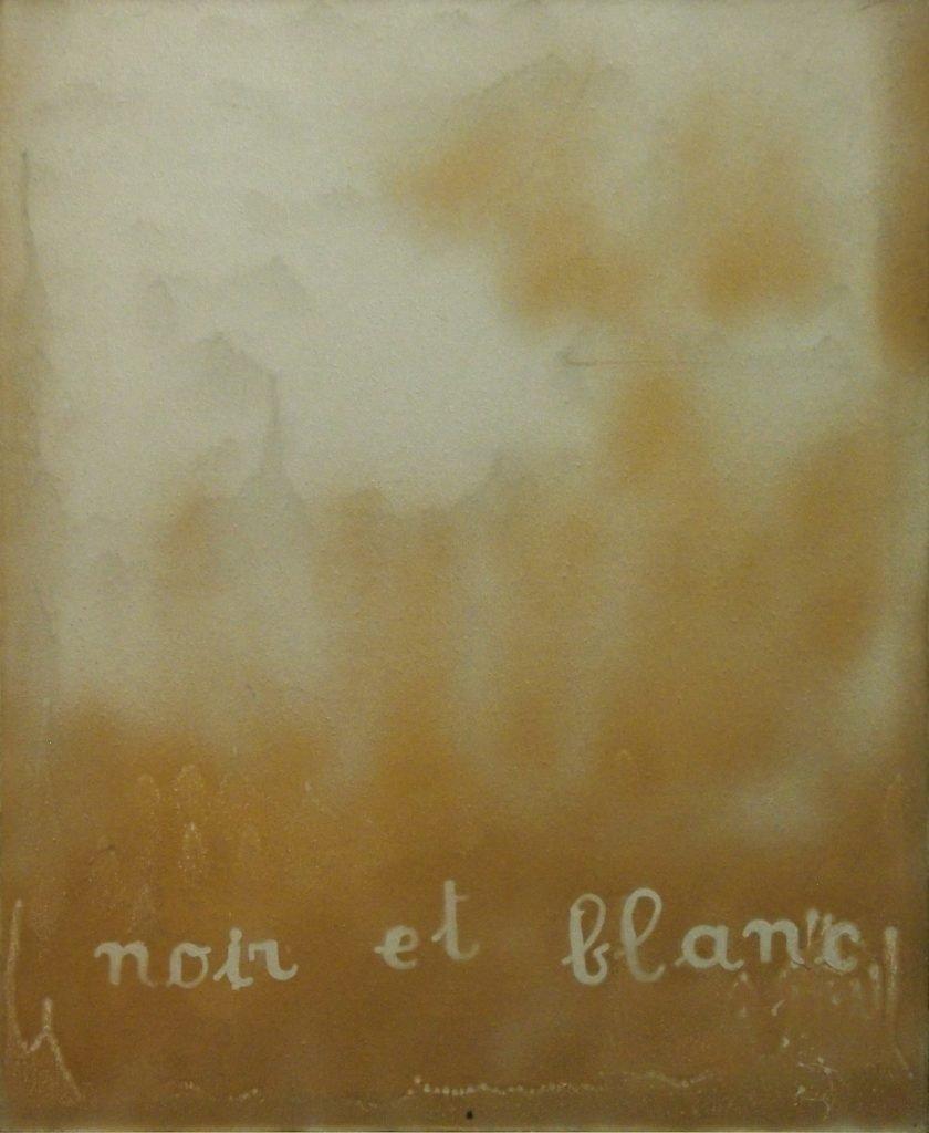 "JULIEN BLAINE ""Noir et blanc"" -1966-79-83- olio su tela 60 x 55 cm"