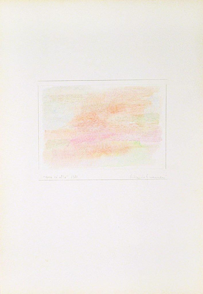 "RICCARDO GUARNERI ""Rosa ed altro"" -1980- tecnica mista su carta 50X35 cm"