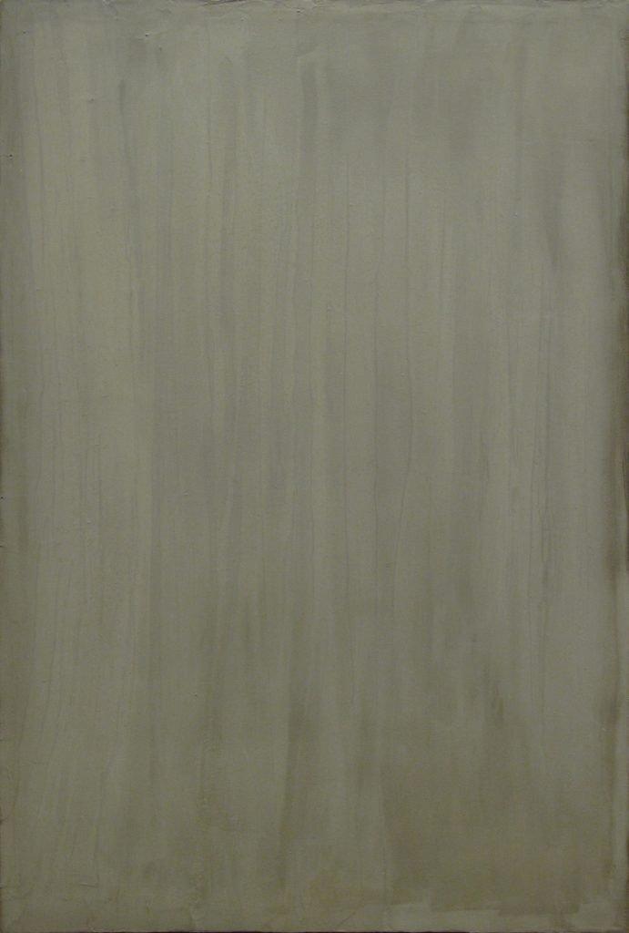 """ENZO CACCIOLA """"5-10-1975"""" - cemento su tela 120x80 cm"""