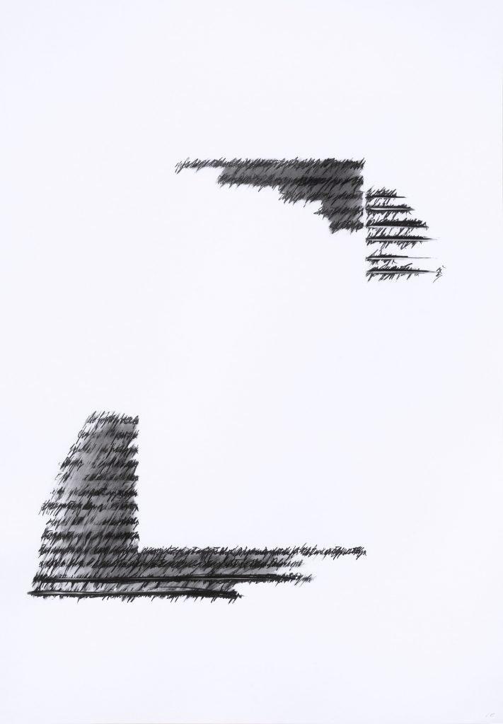 """ALESSANDRO ALGARDI """"Senza titolo"""" - 2019 - graphite on paper 100x70 cm"""