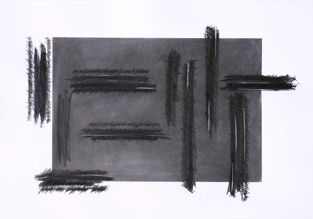 """ALESSANDRO ALGARDI """"Senza titolo"""" - 2019 - graphite on paper 70x100 cm"""