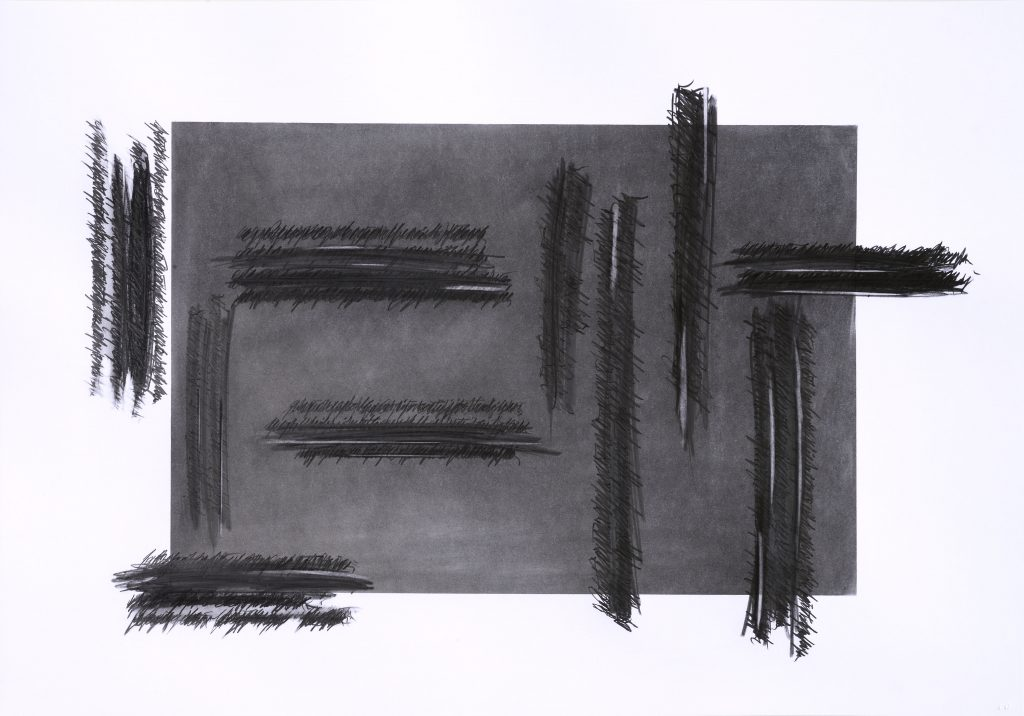 """ALESSANDRO ALGARDI """"Senza titolo"""" - 2019 - grafite su carta 70x100 cm"""