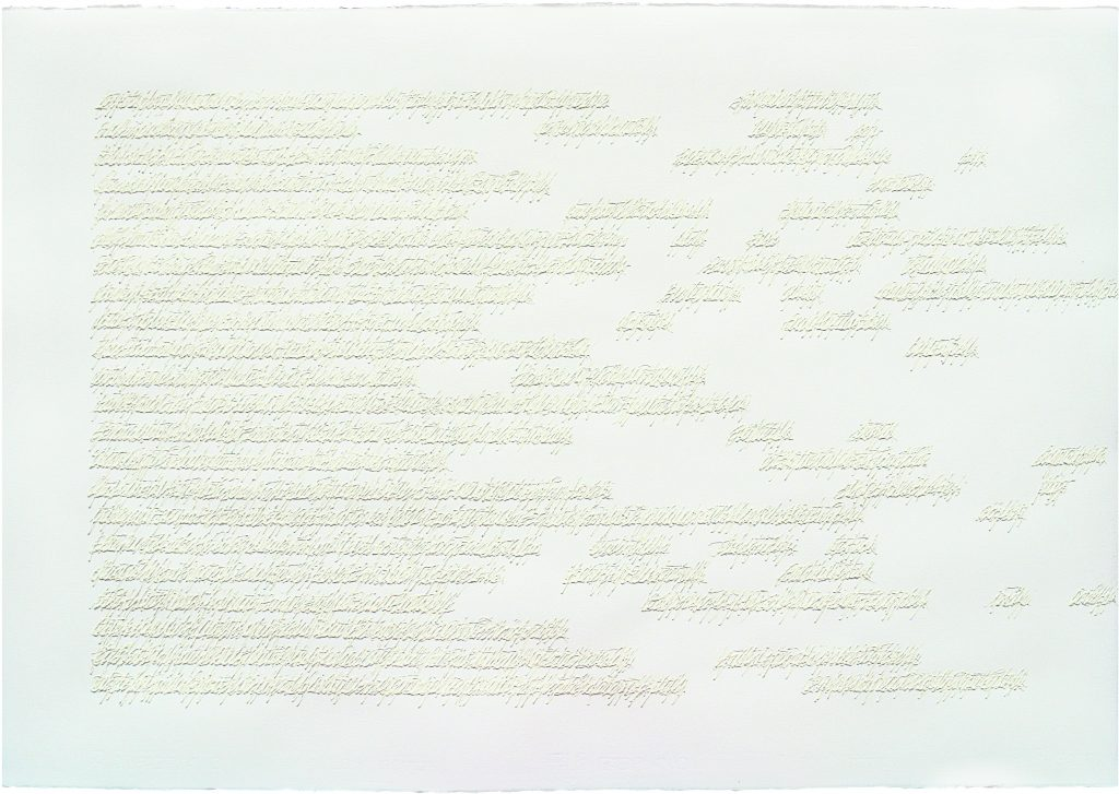 "ALESSANDRO ALGARDI ""Poema fluttuante "" - 2003 - acrilico su carta 70x100 cm"