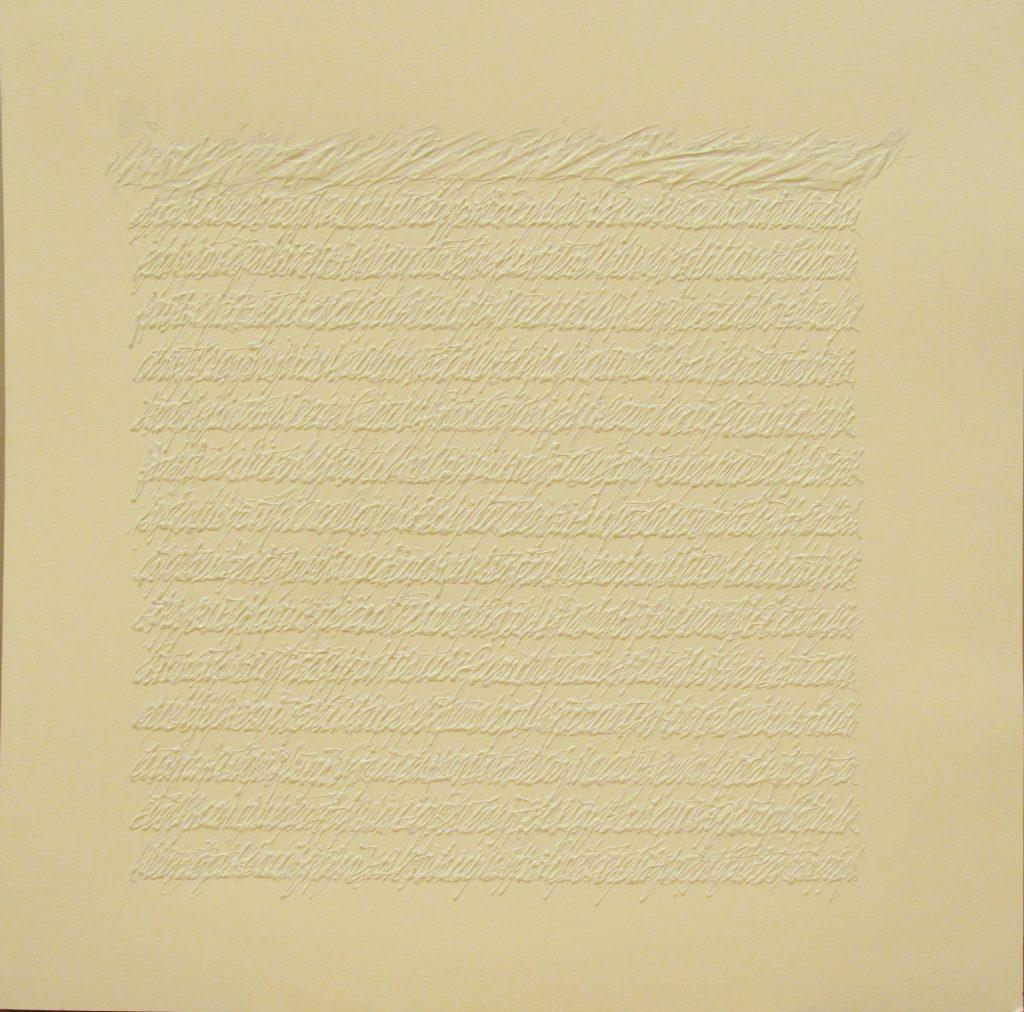 "ALESSANDRO ALGARDI ""Senza titolo"" - 1995 - acrylic and vinyl on paper 50x50.5 cm"