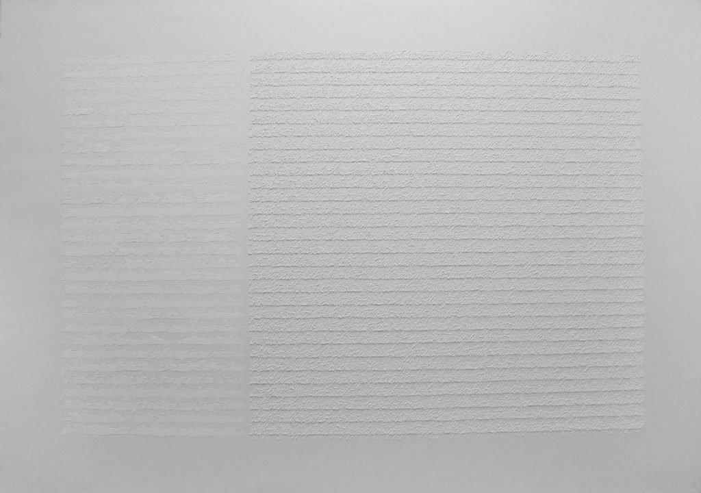 "ALESSANDRO ALGARDI ""Senza titolo"" - 2015 - acrilico su carta 100x142.5 cm"