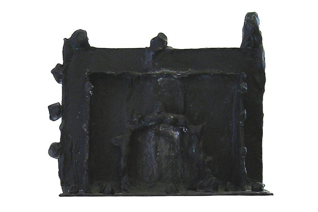 "ARCANGELO ""Casa dogon"" - 1994 - bronzo esemplare unico 28x35x10 cm"