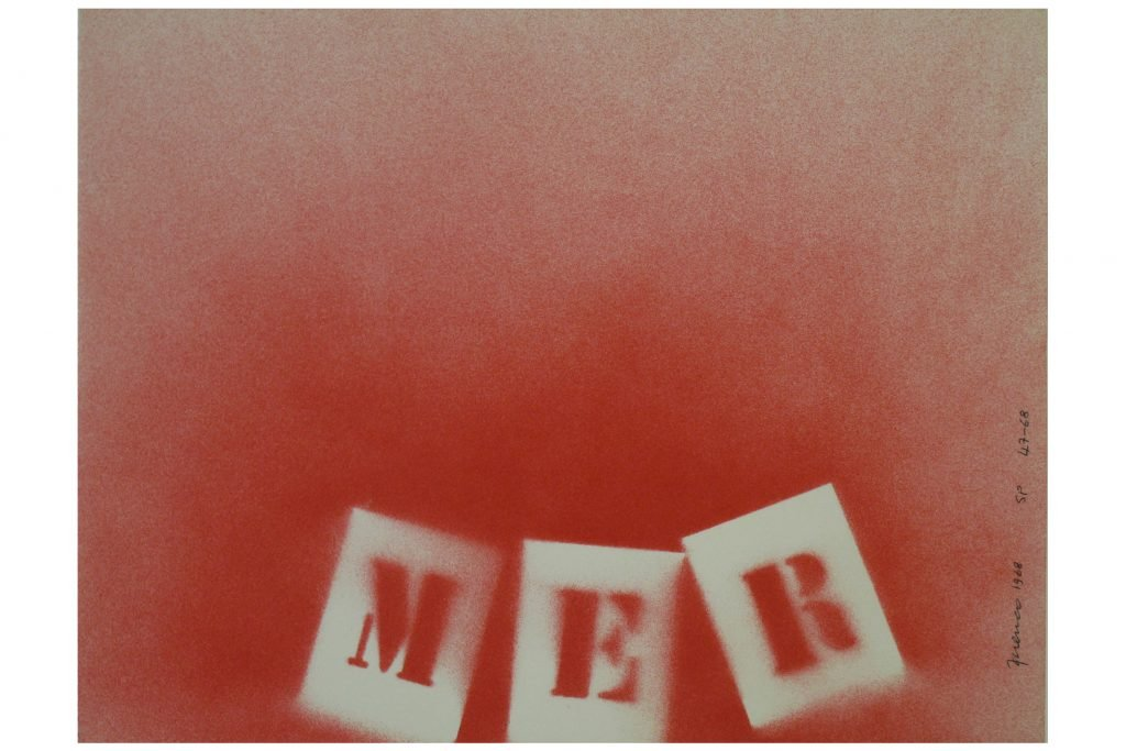 """SARENCO """"Mer Rosso"""" -1968- Tecnica mista su carta 24X32.5 cm"""