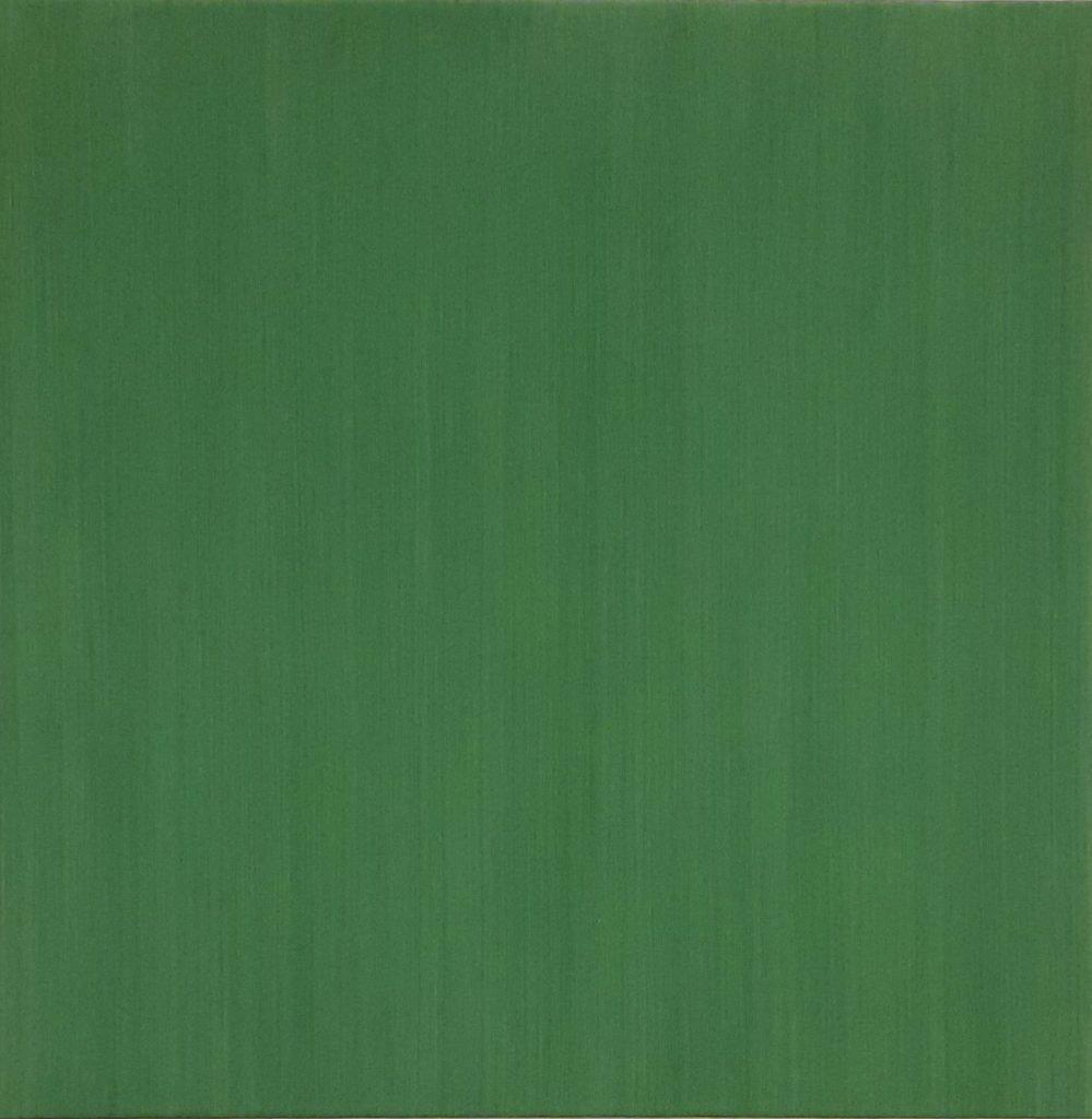"""ANTONIO SCACCABAROZZI-""""4 velature di terra verde""""-2008- Acrilico su tela 50x50cm"""