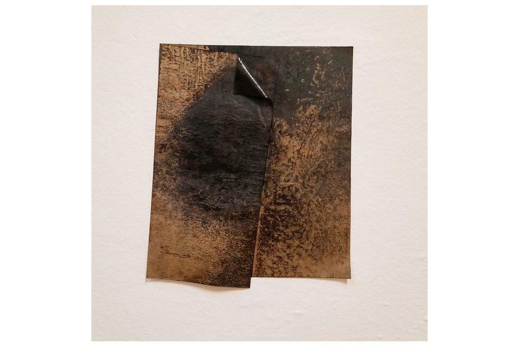"""ANTONIO VIOLETTA-""""Senza Titolo""""-1976 - Carta catramata - 31 x 26 cm"""