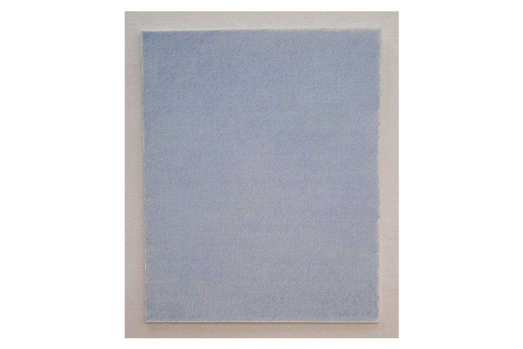 "ANTONIO SCACCABAROZZI-""321mg pastello bleu""-1982-patello su tavola-88x70cm"