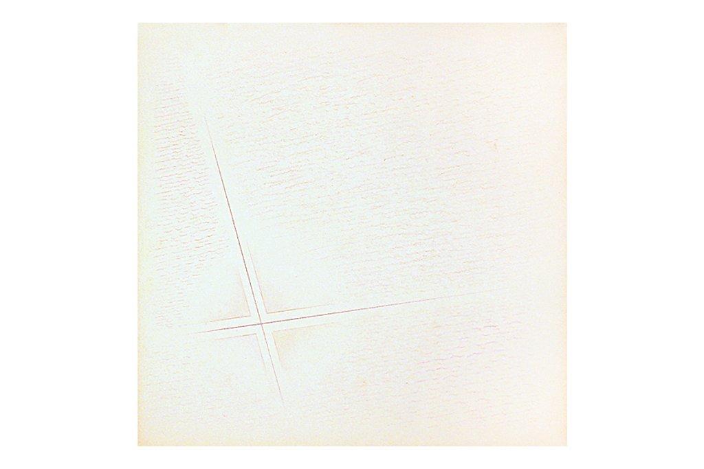 """RICCARDO GUARNERI-"""" Dall'interno, non ortogonale"""" -1980- tecnica mista su carta -25.5X25.5 cm"""