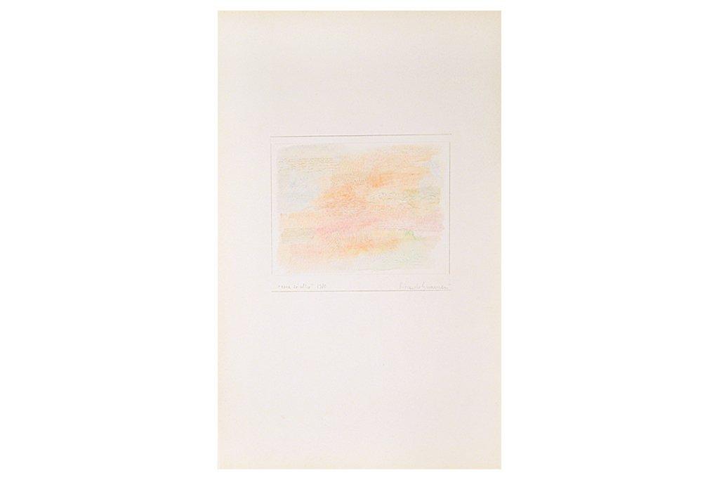 "RICCARDO GUARNERI -""Rosa ed altro"" -1980- tecnica mista su carta -50X35 cm"