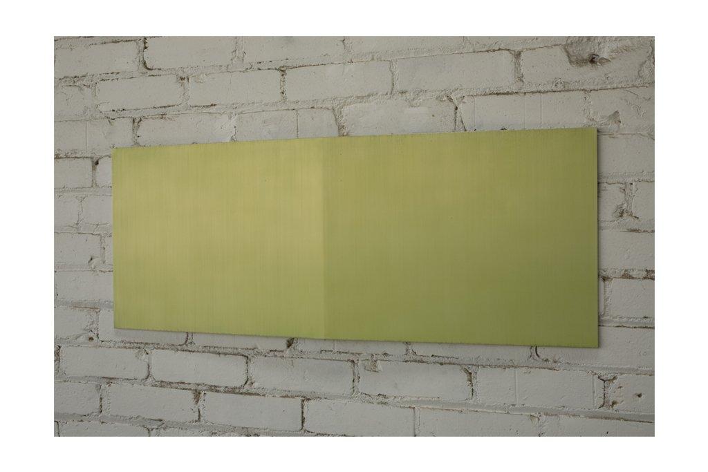 """ROY THURSTON-""""2010-6""""-2010-alluminio raschiato e acrilico-38x99x3cm"""